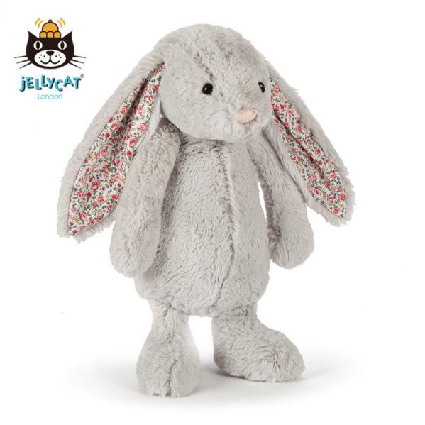 JELLYCAT pluszowy królik SILVER z uszami w kwiaty 31cm