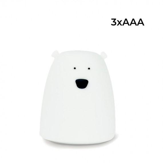 Rabbit&Friends mała silikonowa lampka led biały MIŚ