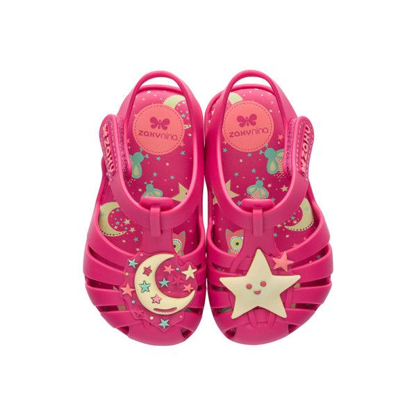 Sandałki dziecięce ZAXY różowe GLOW IN THE DARK BABY
