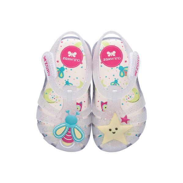 Sandałki dziecięce ZAXY transparentne GLOW IN THE DARK BABY