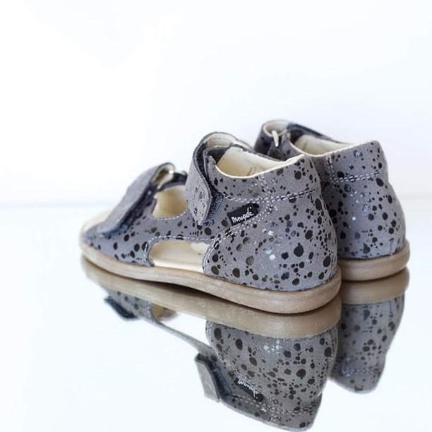 Sandały dziecięce Mrugała FLO grey spots 20-25