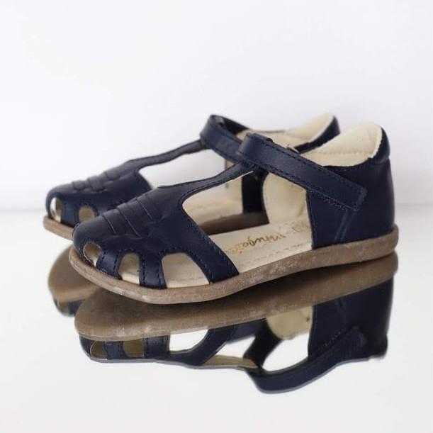 Sandał zabudowany Mrugała LOLA blu 31-35