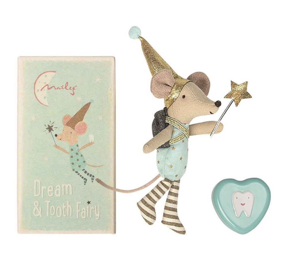 MAILEG myszka Tooth fairy Big brother mouse with metal box
