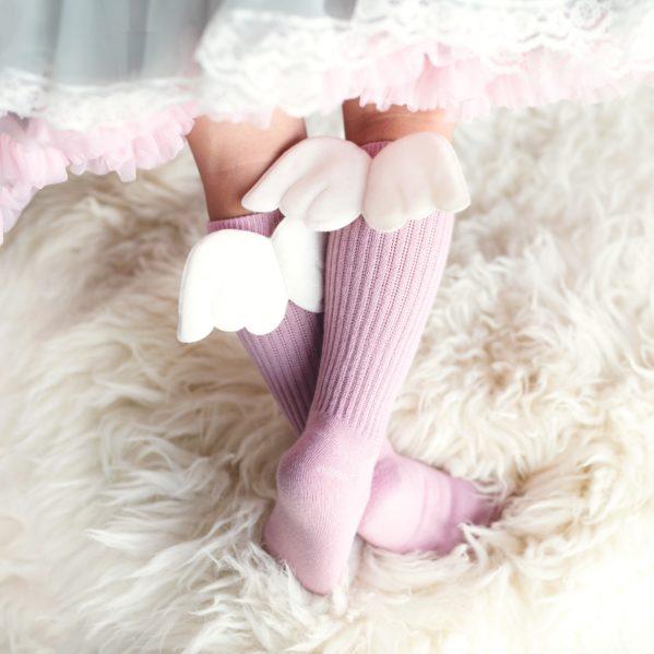 Podkolanówki dziecięce Mama's Feet Różowy Aniołek