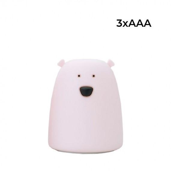 Rabbit&Friends silikonowa lampka led mały różowy MIŚ