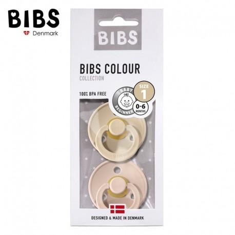 BIBS 2-pack S kolor blush/vanilla smoczek uspokajający kauczuk Hevea