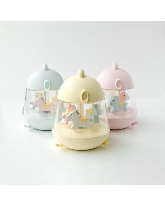 Rabbit&Friends lampka nocna z nakręcaną pozytywką - Kurczaczek niebieska