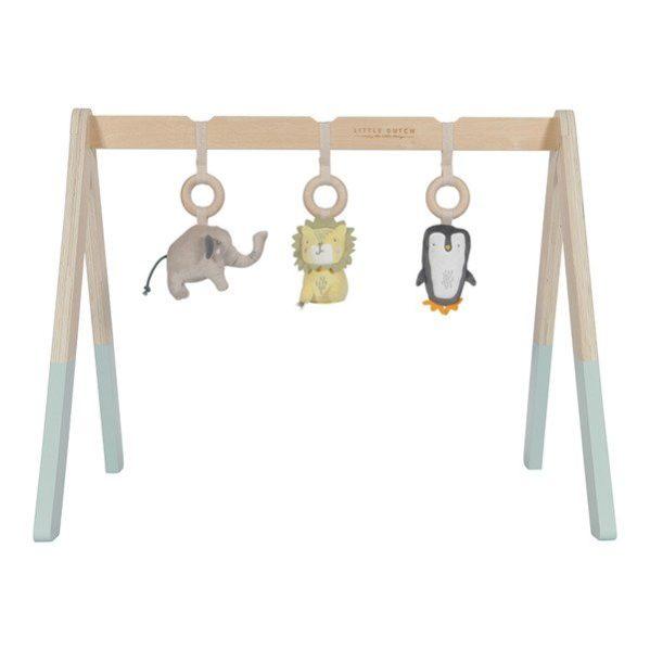 LITTLE DUTCH drewniany pałąk interaktywny baby gym mięta