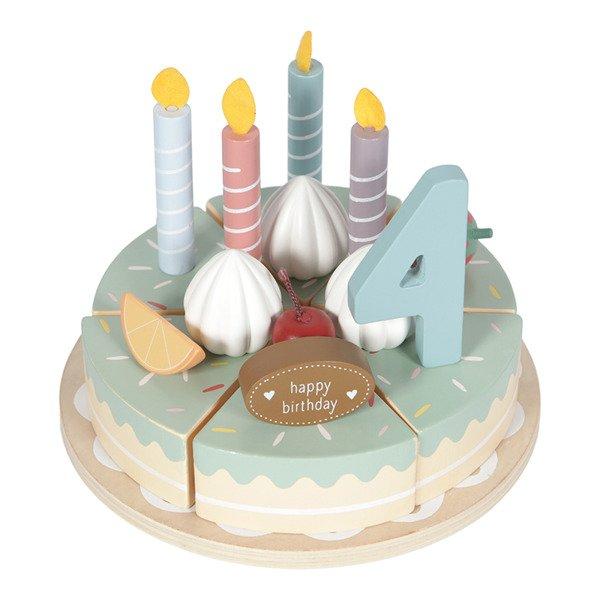 Little Dutch Drewniany torcik urodzinowy