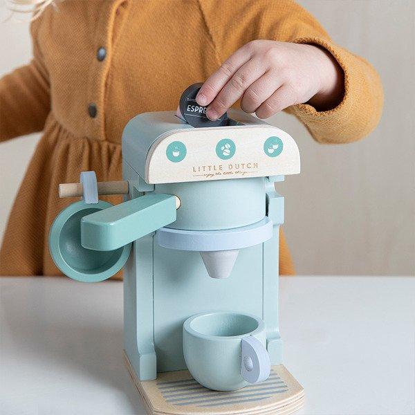 LITTLE DUTCH drewniany Ekspres do kawy (10 el.)