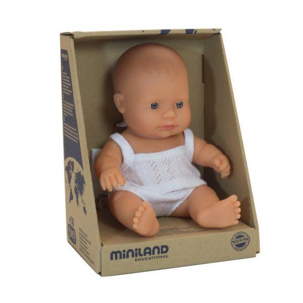 MINILAND baby lalka dziewczynka Europejka 21 cm