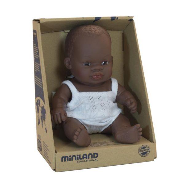 MINILAND lalka bobas dziewczynka Afrykanka 21cm