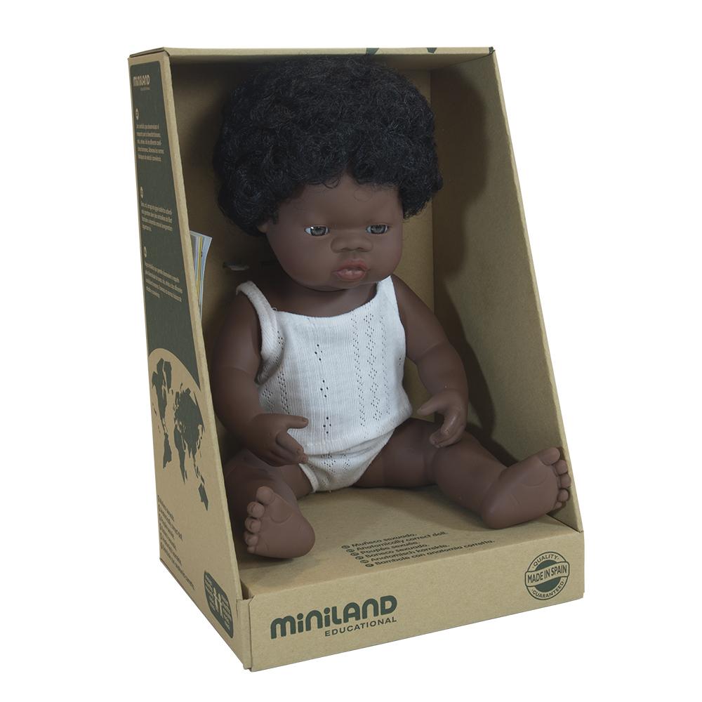MINILAND lalka dziewczynka Afrykanka 38 cm