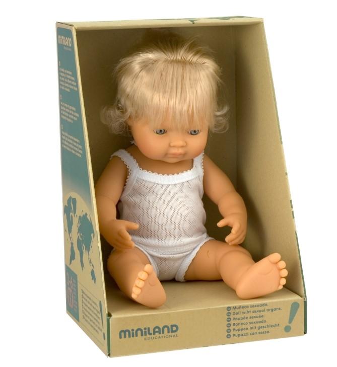 MINILAND lalka dziewczynka Europejka 38 cm