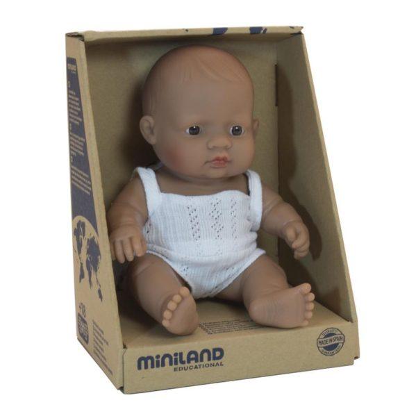 MINILAND lalka dziewczynka Latynoska 21 cm