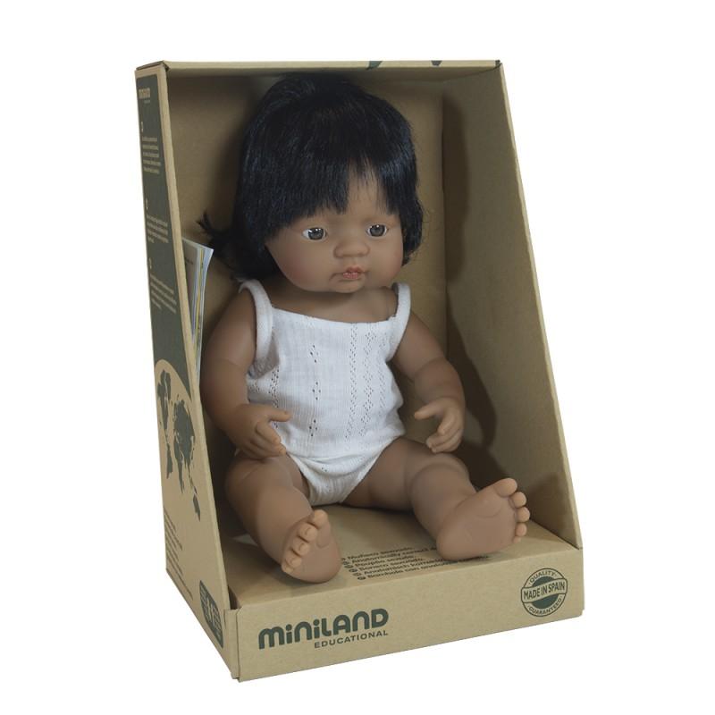 MINILAND lalka dziewczynka Hiszpanka 38 cm