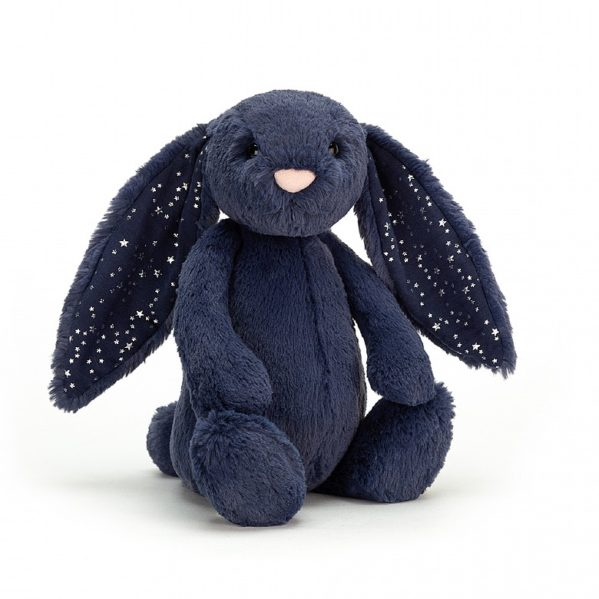 JELLYCAT pluszowy króliczek granatowy w gwiazdki 31 cm