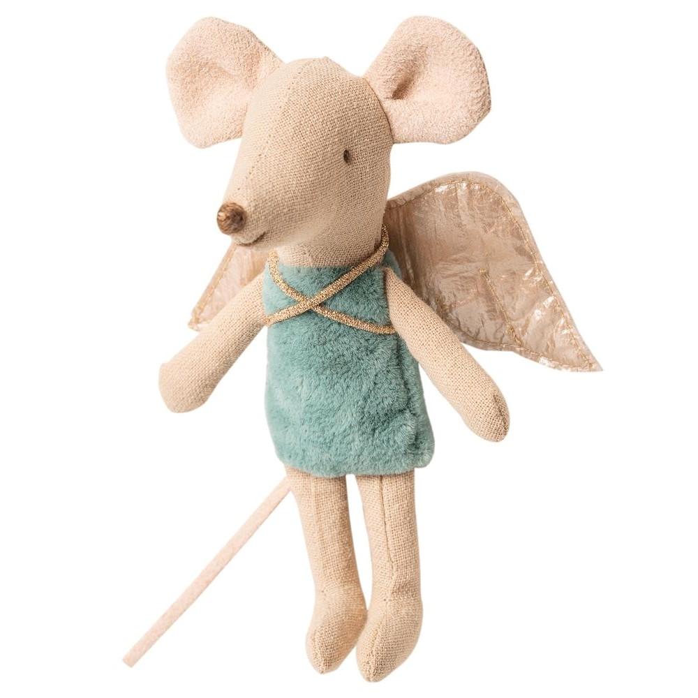 MAILEG myszka Wróżka młodsza siostra Fairy Mouse turkus