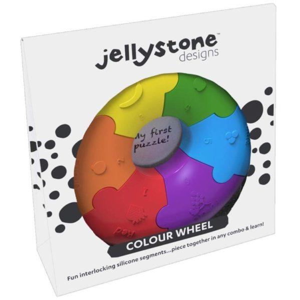 Pierwsze puzzle sensoryczne, tęczowe kółko, Jellystone Design