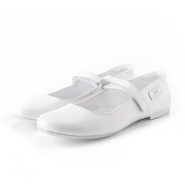 EMEL komunia baleriny dziecięce białe E2506