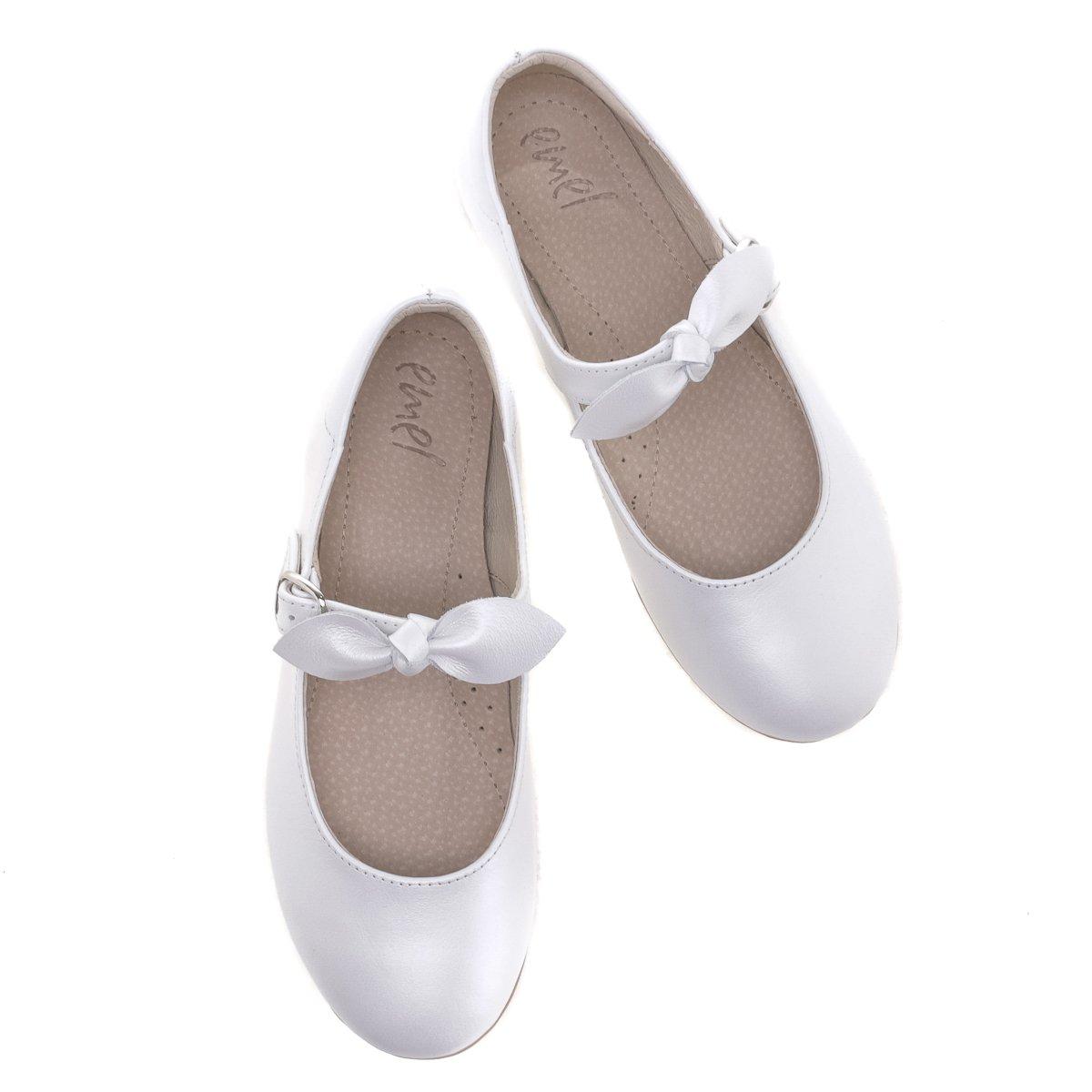 EMEL komunia baleriny dziecięce białe E2695