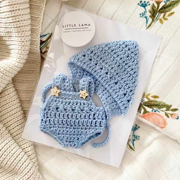 MINILAND ubranko dla lalki 21cm - kolor błękitny