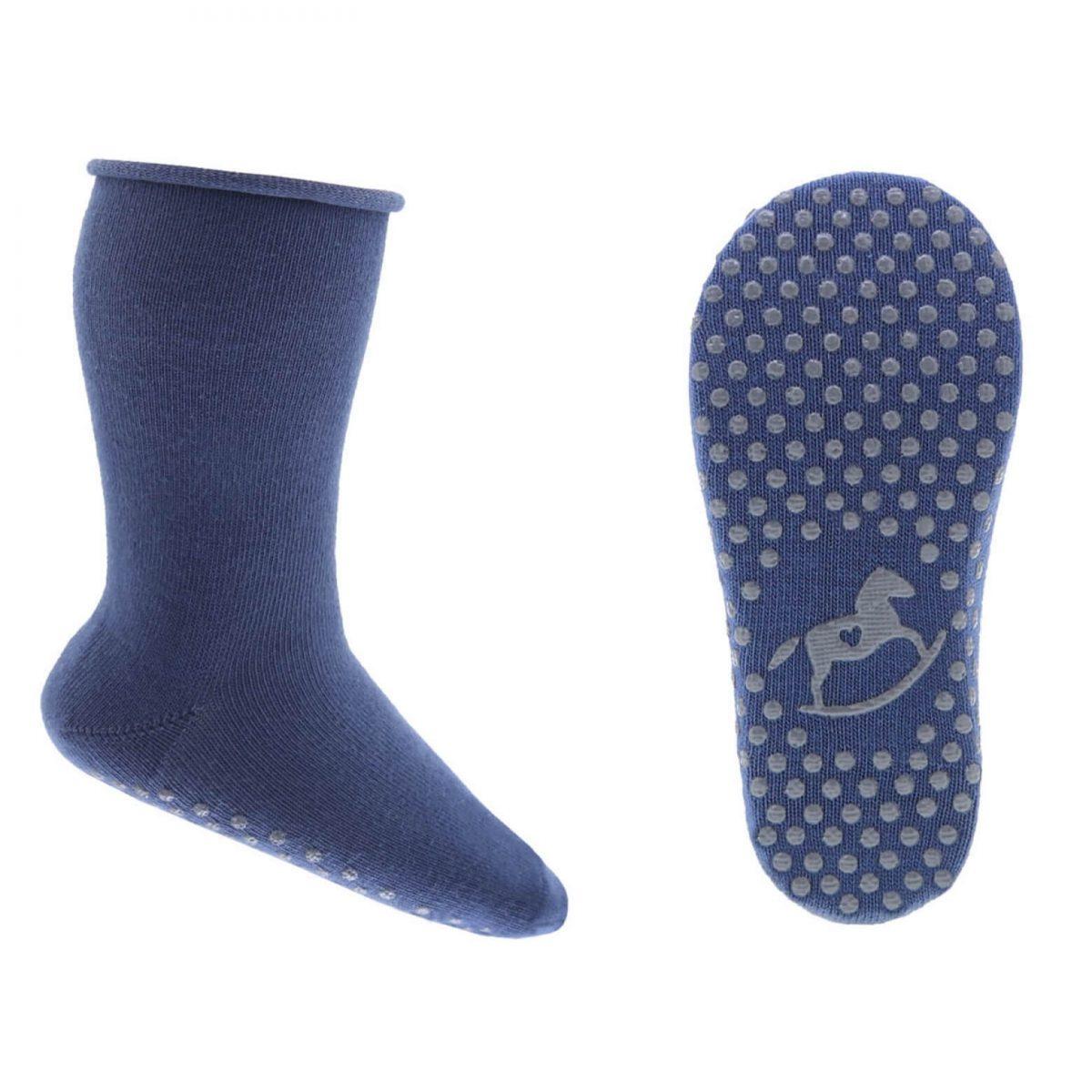 EMEL skarpetki dziecięce ABS dłuższe niebieskie