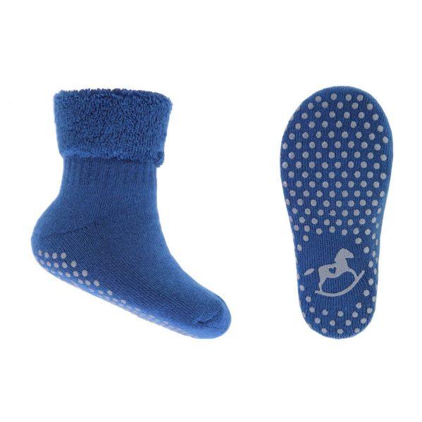 EMEL skarpetki dziecięce frote ABS niebieskie