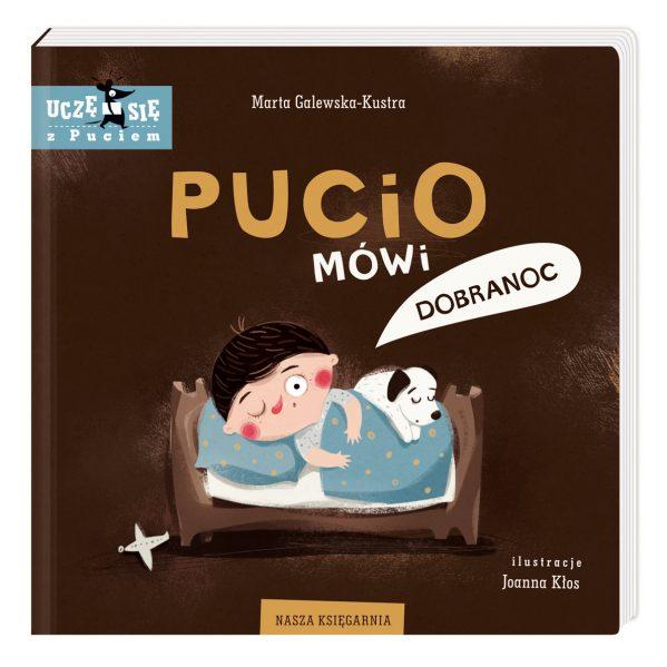 Pucio mówi dobranoc - kartonowa książeczka dla dzieci chwalipietka