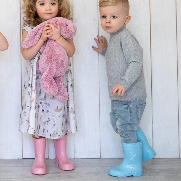 #Kaloszepoprosze dziecięce kalosze PasteLove Jelonek - Błękitny