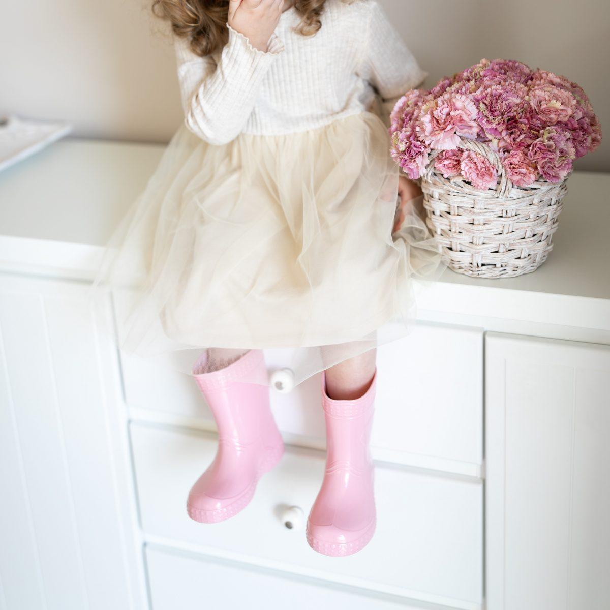 #Kaloszepoprosze dziecięce kalosze PasteLove Króliczek – Pastelowy róż