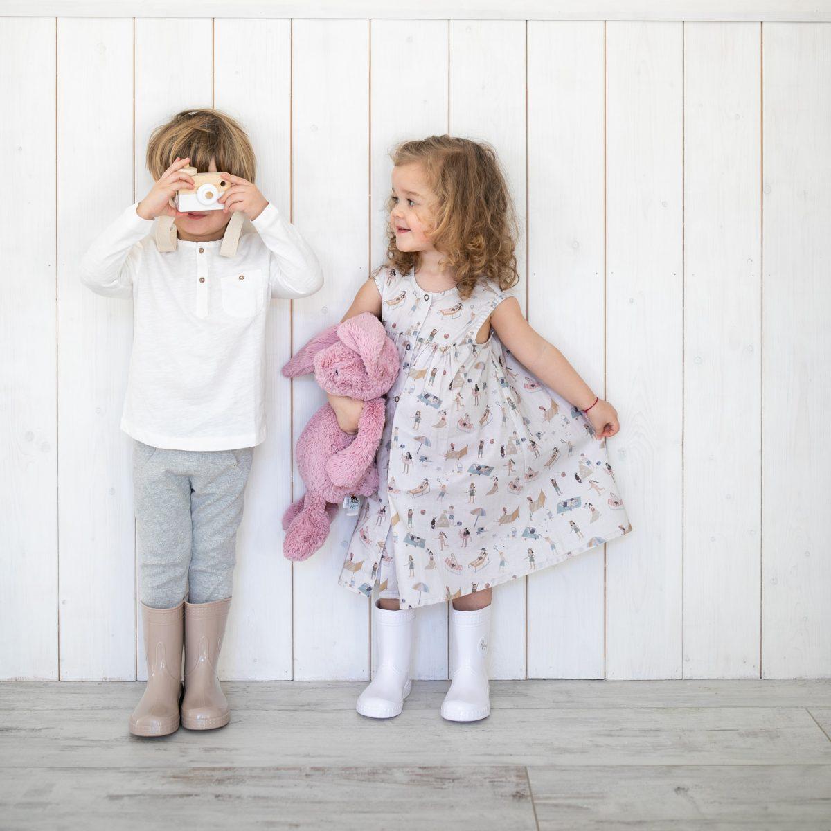 #Kaloszepoprosze dziecięce kalosze PasteLove Miś - Beżowy