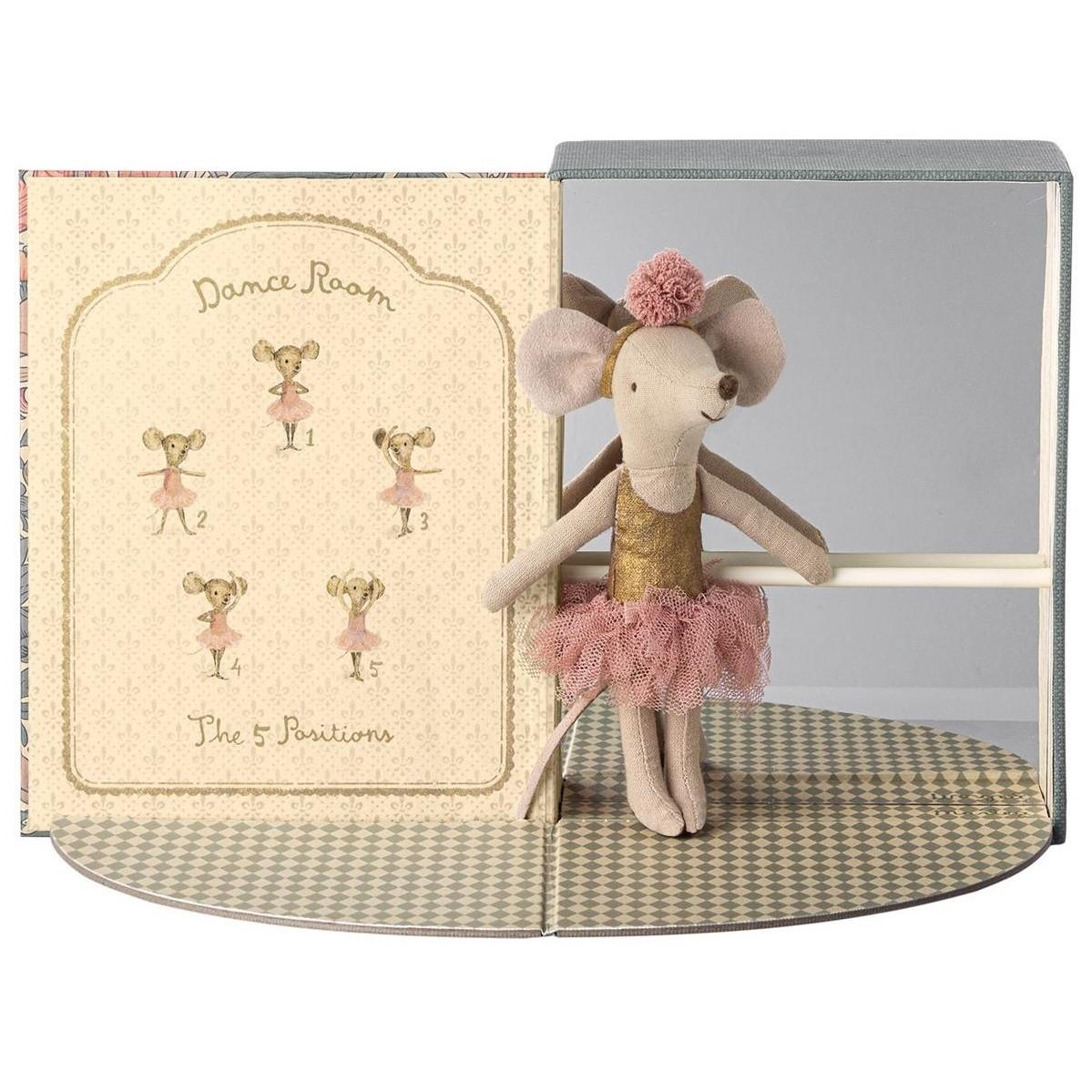 MAILEG myszka baletnica w pokoju do tańca - Dance room