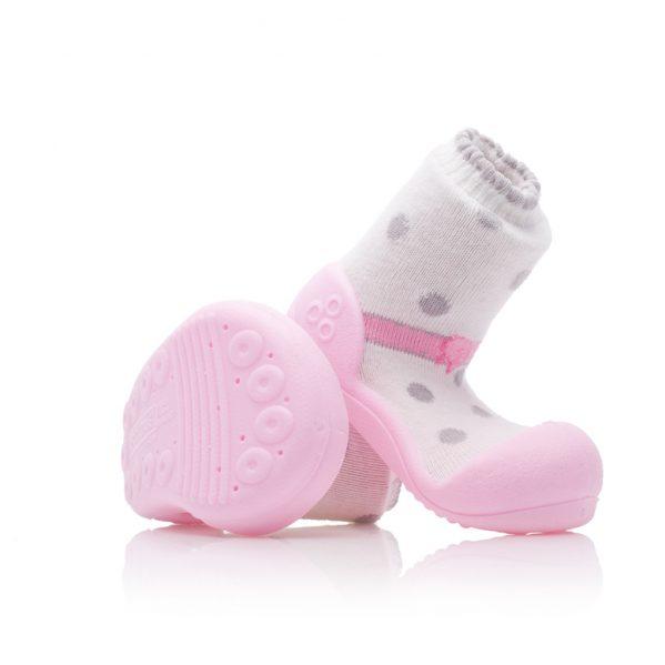 ATTIPAS buciki kapcie dla dzieci BALLET PINK