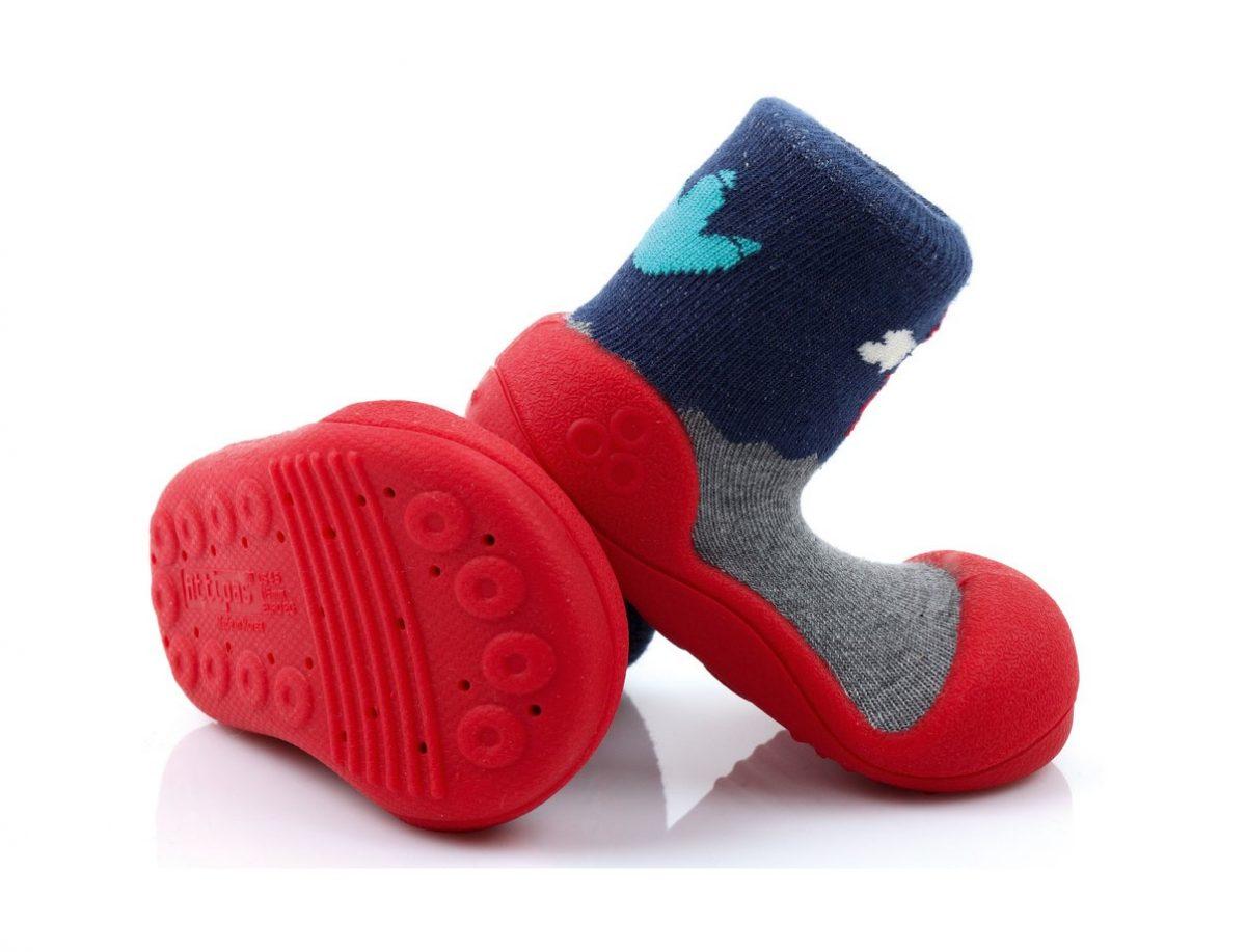 ATTIPAS buciki kapcie dla dzieci DINOSAUR RED