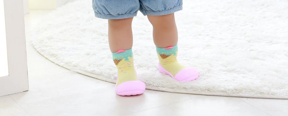 ATTIPAS buciki kapcie dla dzieci ICE CREAM PINK