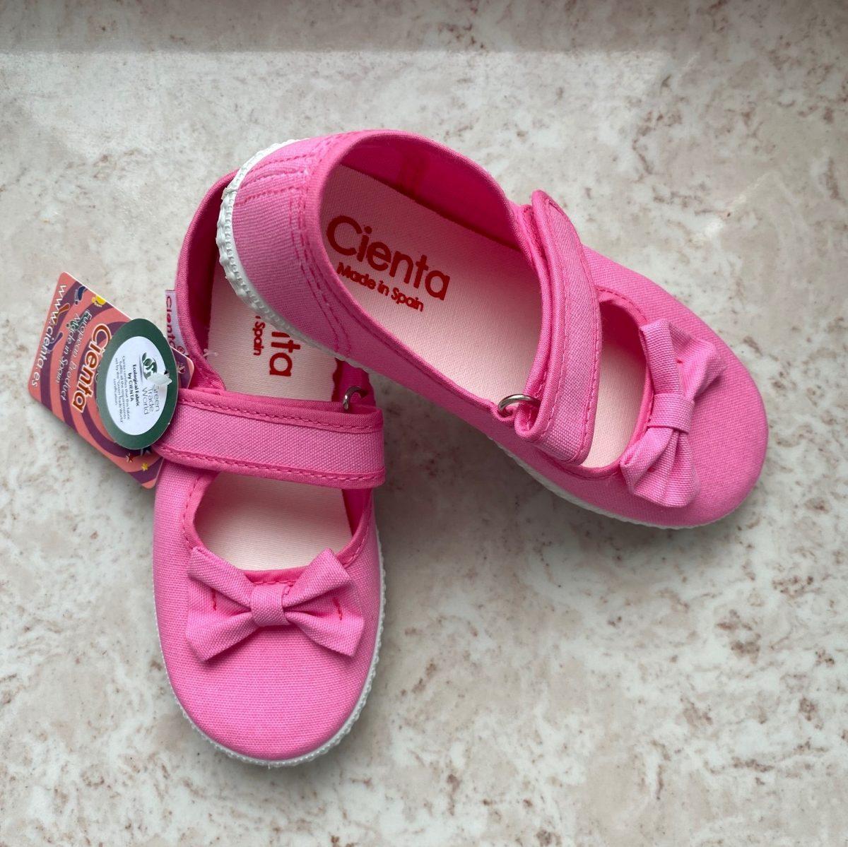 CIENTA tenisówki z kokardką 56060-42 kolor rosa esp
