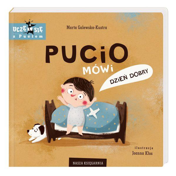 Pucio mówi dzień dobry - kartonowa książeczka dla dzieci chwalipietka