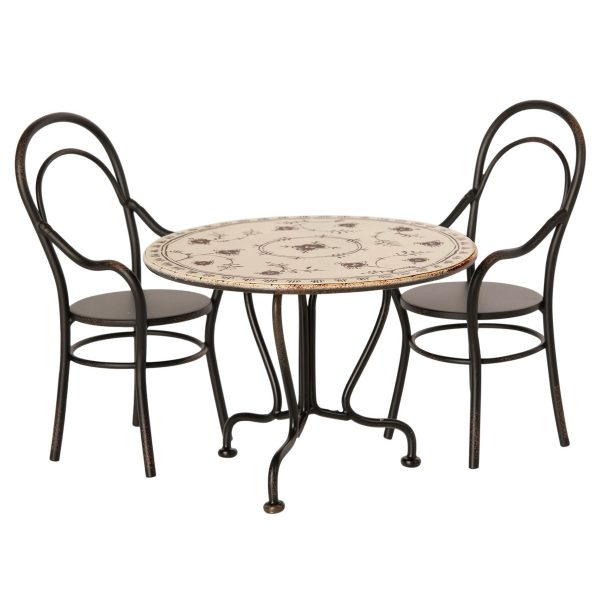 MAILEG zestaw do jadalni stół z 2 krzesłami - Dining table set w. 2 chairs