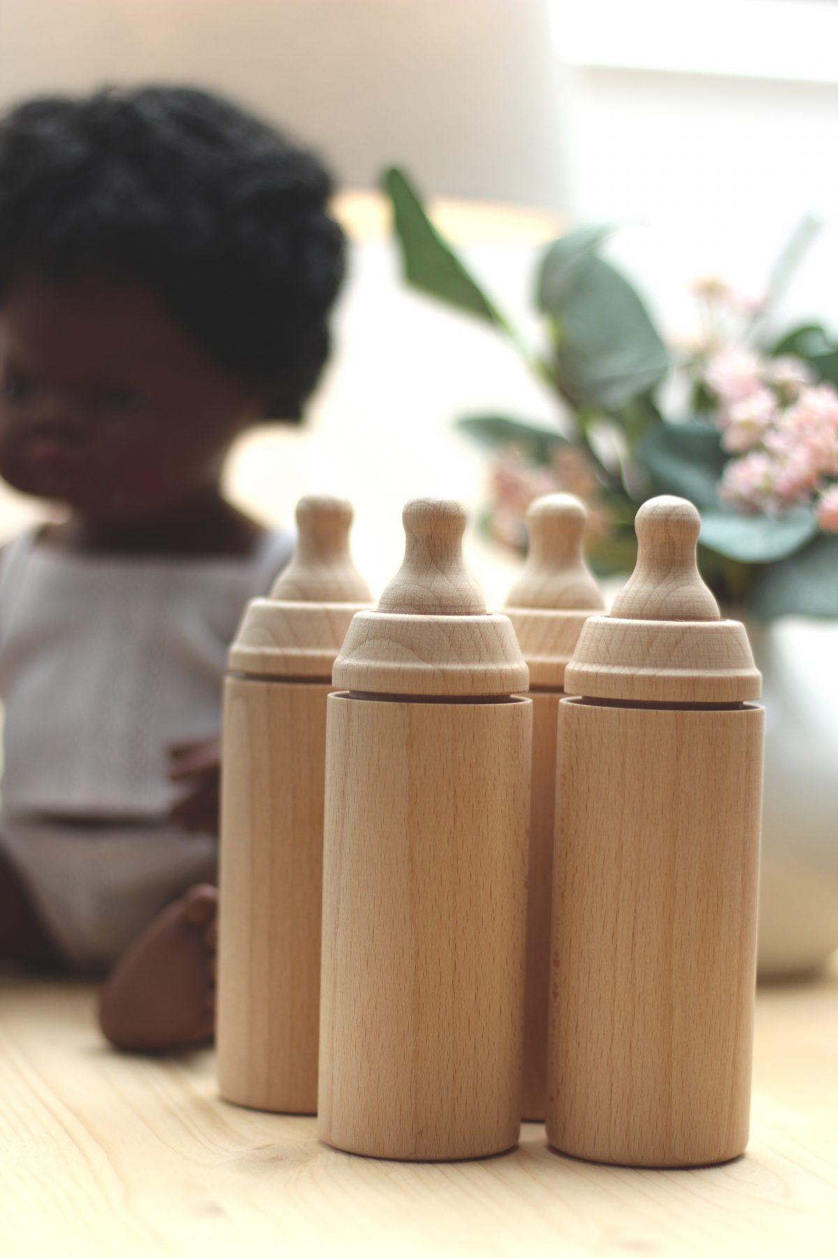 MINILAND butelka drewniana Naturalna chwalipietka