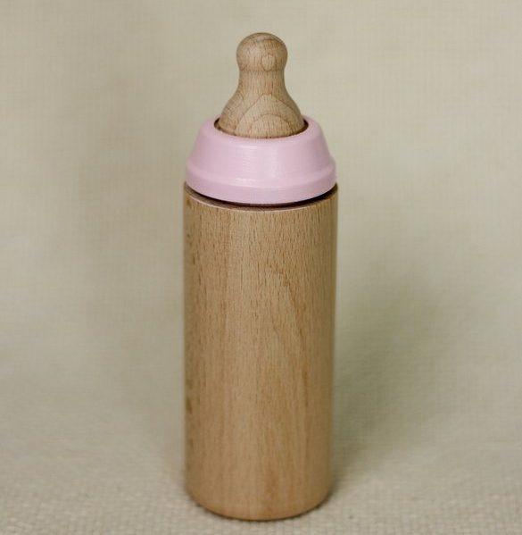 MINILAND Butelka Drewniana dla Lalki Różana