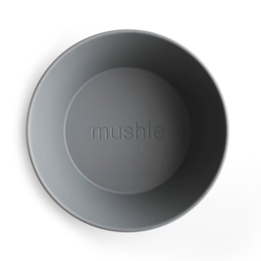 Mushie - 2 miseczki Round Smoke