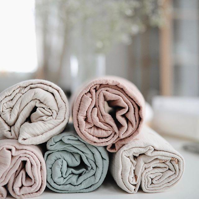 Mushie - otulacz kocyk letni 100% organic cotton Natural