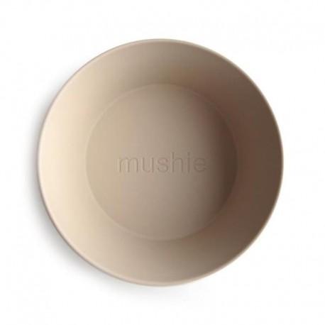 Mushie - 2 miseczki Round Vanilla