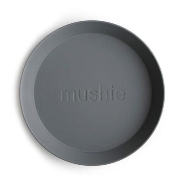 Mushie -2 talerzyki Round Smoke