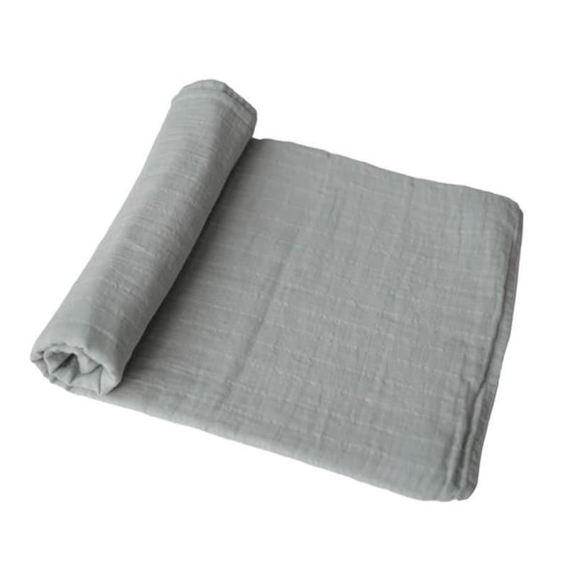 Mushie - otulacz kocyk letni 100% organic cotton Belgian Grey