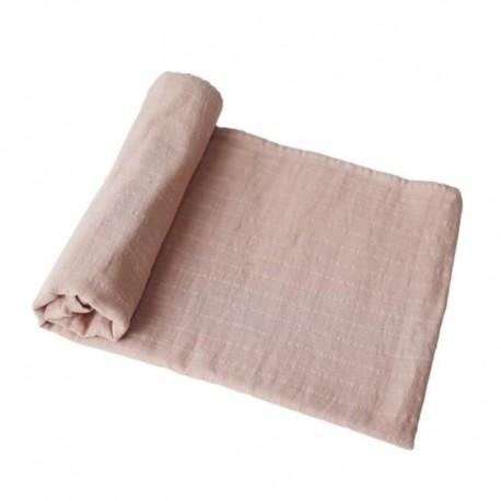Mushie - otulacz kocyk letni 100% organic cotton Blush