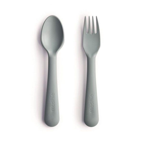 Mushie - Sztućce dla dzieci do nauki samodzielnego jedzenia Sage