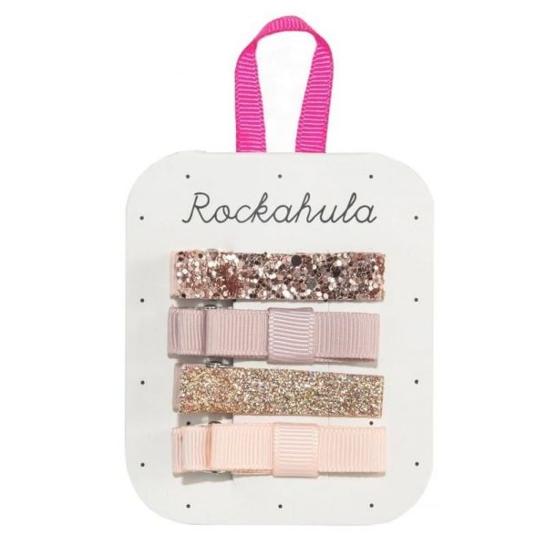 Rockahula Kids - spinki do włosów Sparkle Bar Rose Gold