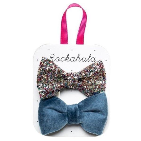 Rockahula Kids - spinki do włosów Velvet and Glitter Blue